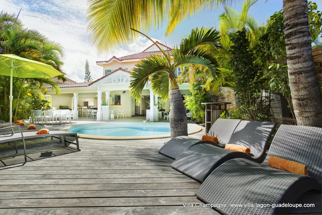 Villa de luxe piscine Guadeloupe