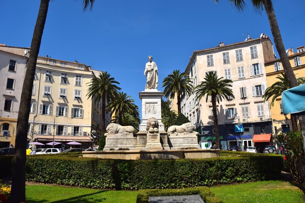 Ajaccio Place des Palmiers Ajaccio Napoleon 1er consul